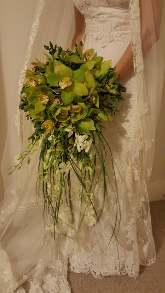 Large Orchid Wedding Bouquet
