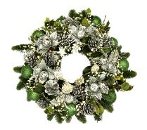 how to make a holly wreath for a grave