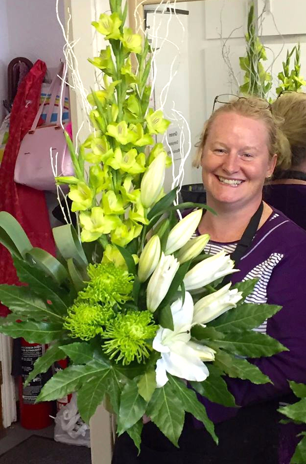Flower arranging course at kay s school