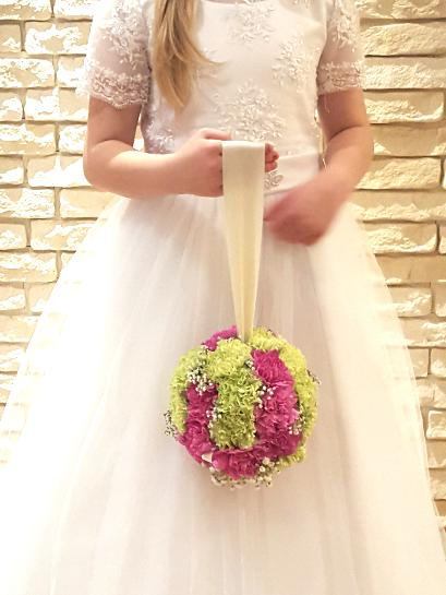 Mixed flower Pomander for junior bridesmaid
