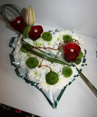 Funeral Heart Wreath with roses