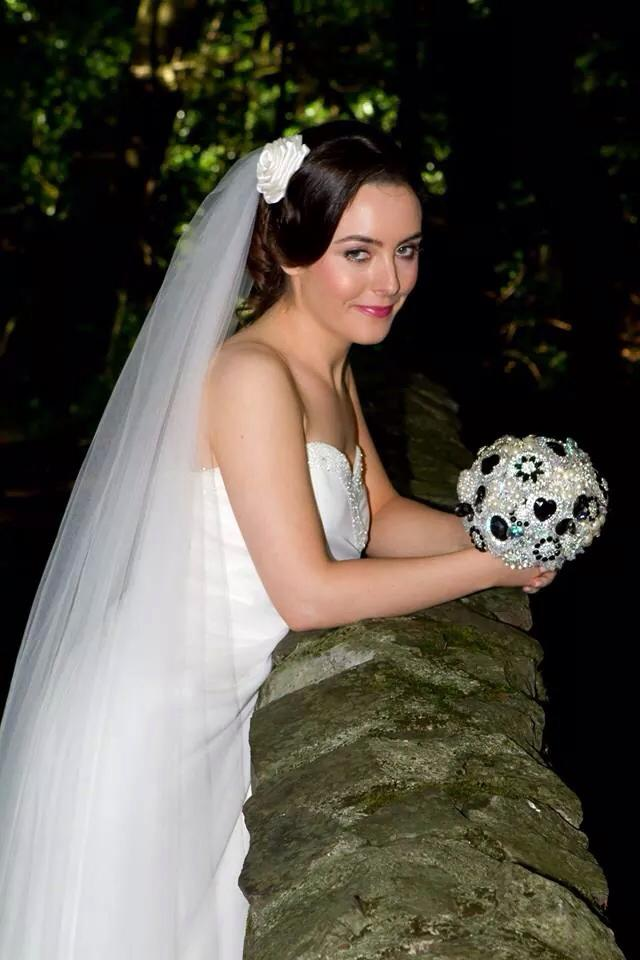 Bride with a Brooch Wedding Bouquet